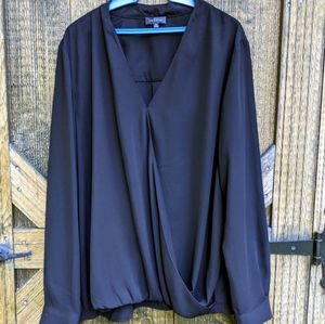 The Limited Sheer Black Long Sleeve Blouse